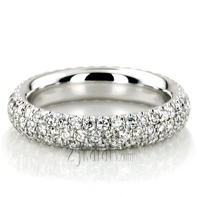 set stackable sets pin diamond wedding french band pave half versatile bands eternity in