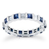 Sapphire princess abd diamond eternity band