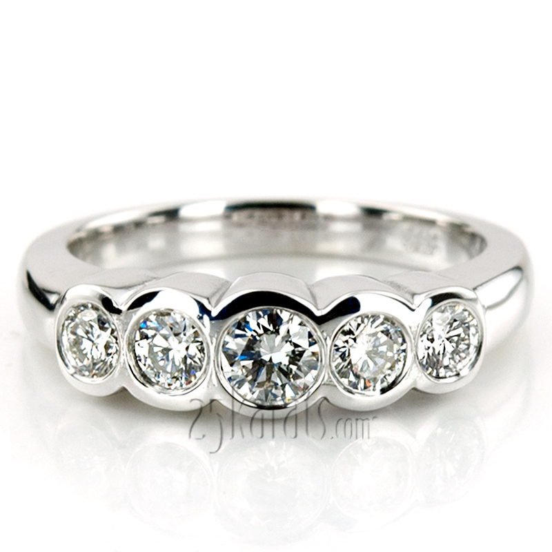 stone ring rings five hand engagement diamond