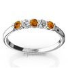 Citrine and diamond wedding band