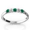Emerald and diamond alternating anniversary band