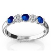 Sapphire and diamond wedding anniversary band womens