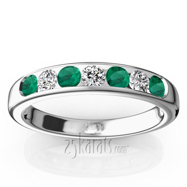 bands gold top rings front view emerald white jewelry ring wemem with and anniversary band
