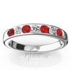 Ruby and diamond channel set band