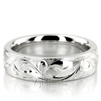 engraved womens etched band women s wedding rings