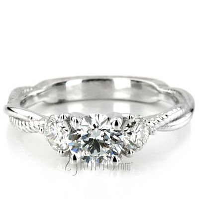 diamond front s engagement ring three stone barkev