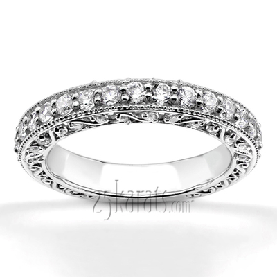 filigree diamond wedding band. filigree diamond wedding band d