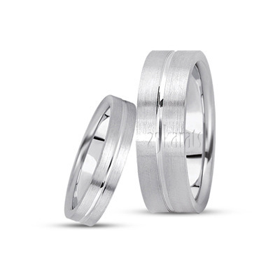 His And Her Basic Simple Wedding Bands