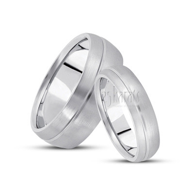 his and her basic carved simple wedding ring - Simple Wedding Rings For Her