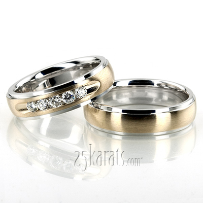 2f32ac6edd5820 Wedding Band Sets, His and Hers Wedding Bands, Matching Wedding ...