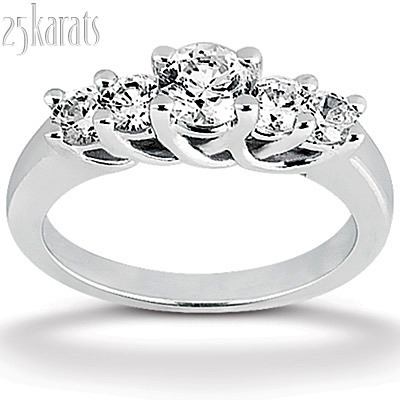 pin rings engagement finger ring for style shiny diamond five trellis stone