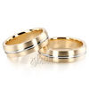 Wedding band set hh ba100119 yellow white yellow
