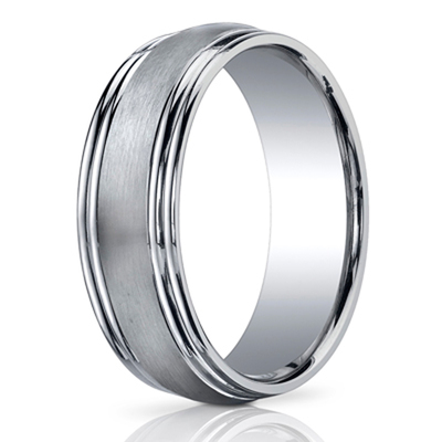 chrome cobalt benchmark cobaltchrome comfort rings design ring polished wedding bands high fit