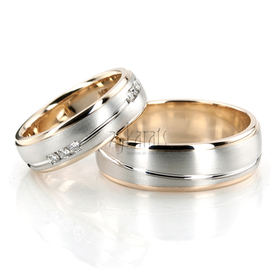 Wave design Wedding Band Sets His and Hers Wedding Bands Matching