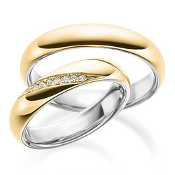 Wedding band set hh 158