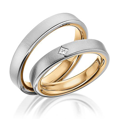 hh 163 - Two Tone Wedding Rings
