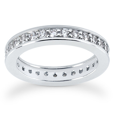 Common Bead Set Diamond Eternity Wedding Band 087 Ct Tw