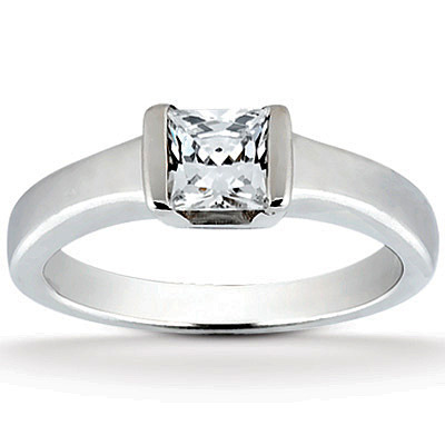 Princess Cut Solitaire Engagement Ring 0 45 Ct 65