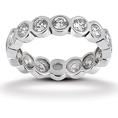 wedding s set bands band eternity rings bezel women diamond womens