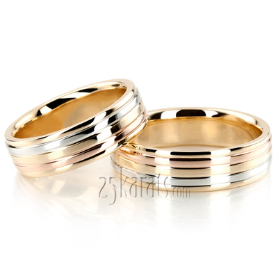 eternity microset rolling mania color gold band collection c mini tricolor wedding ring rings diamond p tri